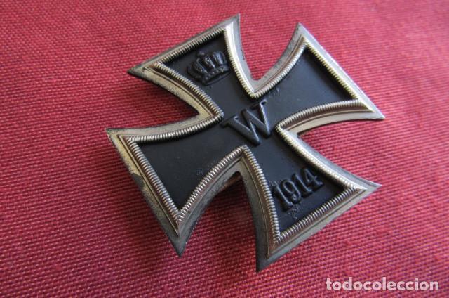 Militaria: Medalla condecoración alemana Cruz de Hierro de I Primera clase 1914 versión 1939 hecha en 3 piezas - Foto 2 - 211912040