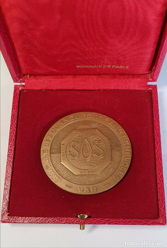 """FRANCIA MEDALLA 1975 MONNAIE DE PARIS """"SOS"""" SOLIDARIDAD, DEVOCIÓN, AMISTAD. VER FOTOS (Militar - Medallas Internacionales Originales)"""