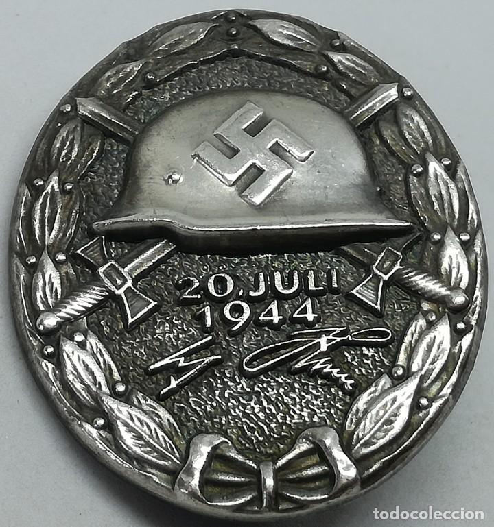 RÉPLICA PLACA DISTINTIVO DE HERIDO ATENTADO A HITLER. CATEGORÍA PLATA. ALEMANIA. 2ª GUERRA MUNDIAL. (Militar - Reproducciones y Réplicas de Medallas )