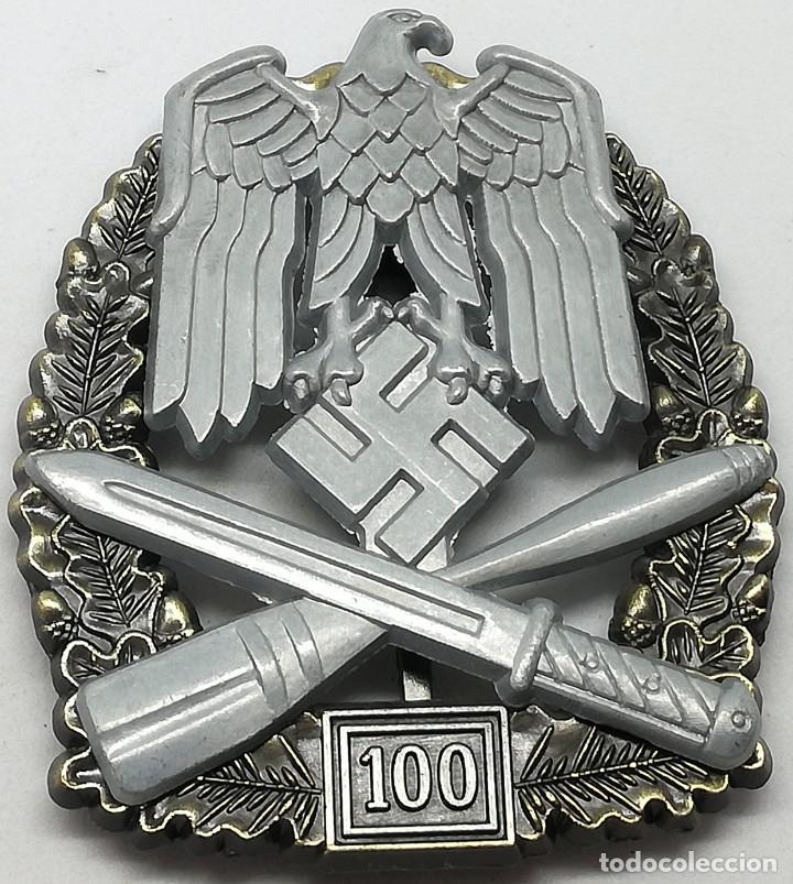 RÉPLICA PLACA ASALTO GENERAL. 5º GRADO. 100. EJÉRCITO WEHRMACHT. ALEMANIA. 2ª GUERRA MUNDIAL. 1943 (Militar - Reproducciones y Réplicas de Medallas )