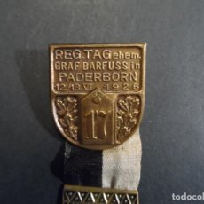 Militaria: MEDALLA REGIMIENTO INFANT. TAGEHEM GRAF BARFUSS IN PARDRBORN 12/13. VI 1926. 4º WESTFALIA. II REICH. Lote 212525658