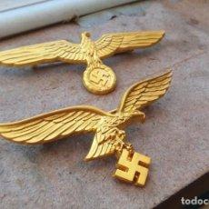 Militaria: 2 SIGNOS DE LA WEHRMACHT.LUFTWAFFE AGUILA ORO.TERCER REICH. Lote 240138205