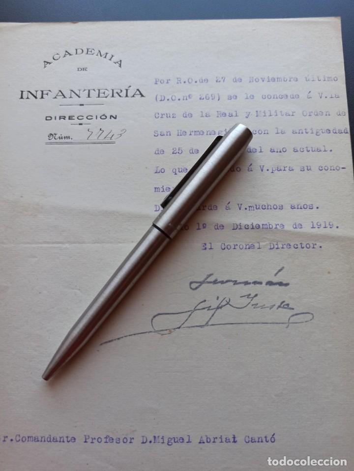 CONCESIÓN CRUZ SAN HERMENEGILDO. ACADEMIA DE INFANTERÍA. 1919. MMI (Militar - Medallas Españolas Originales )