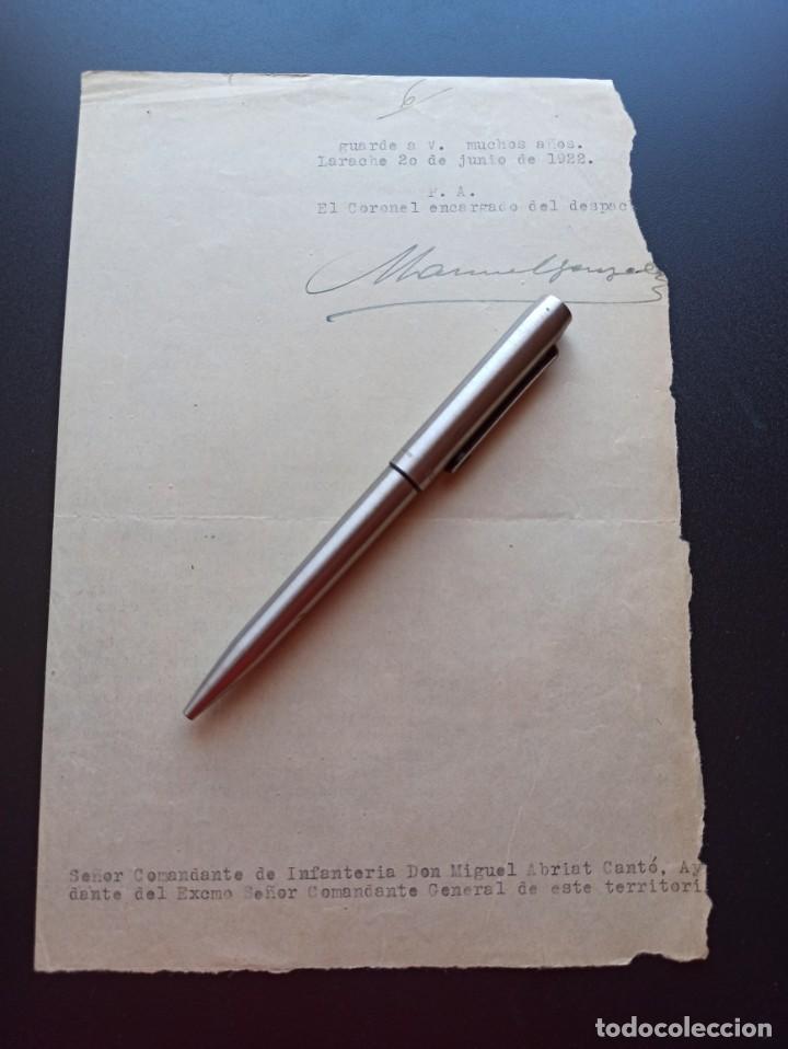 Militaria: Menciones honoríficas. Comandancia General de Larache. 1922. MMI - Foto 2 - 212677286