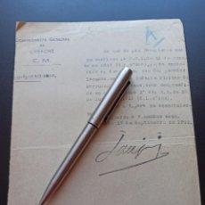 Militaria: CONCESIÓN PASADOR DE LARACHE . COMANDANCIA GENERAL DE LARACHE. 1922. MMI. Lote 212677722