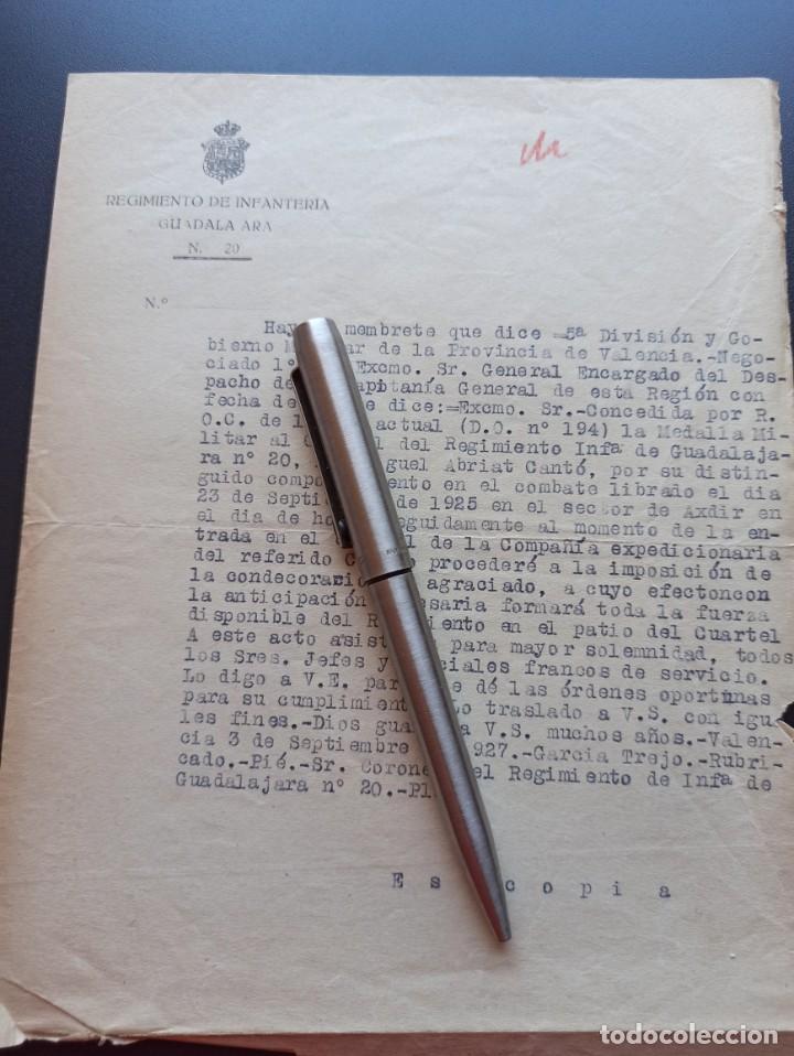 COMUNICACIÓN MEDALLA MILITAR INDIVIDUAL. 1927 (Militar - Medallas Españolas Originales )