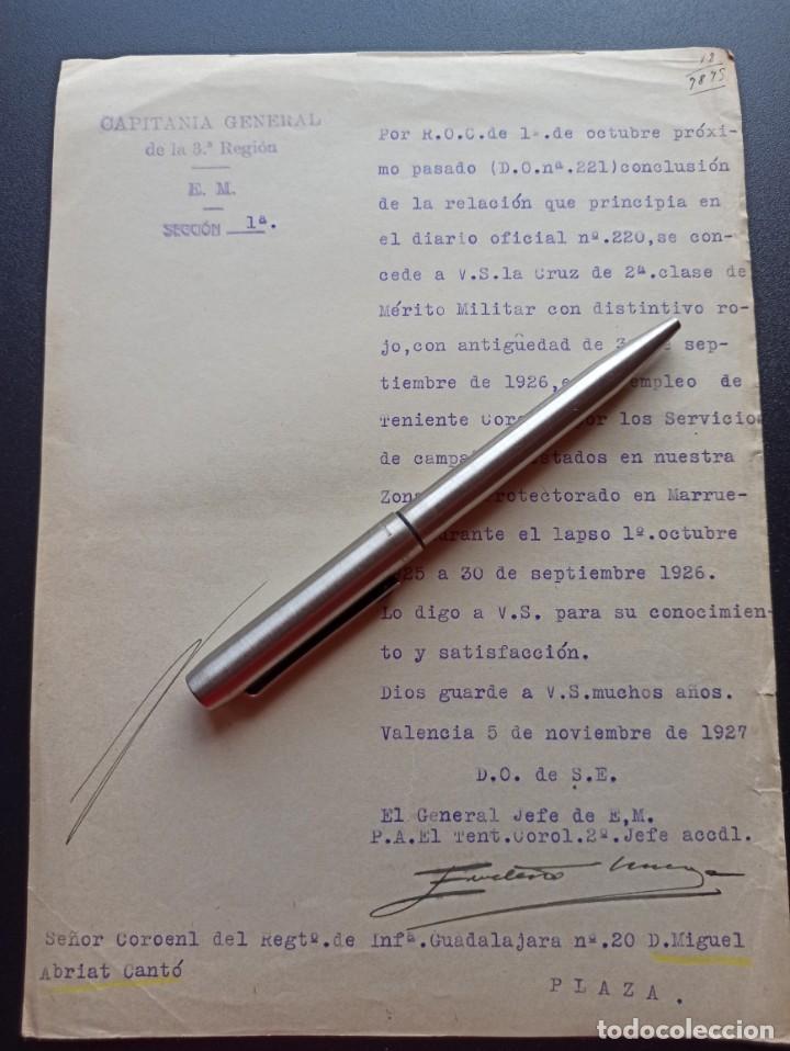 CONCESIÓN CRUZ MÉRITO MILITAR ROJA. 1927. (Militar - Medallas Españolas Originales )