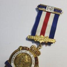 Militaria: MEDALLA DE PLATA MASONICA DE INGLATERRA DEL AÑO 1977.EXTRAORDINARIO ESTADO.. Lote 212781930