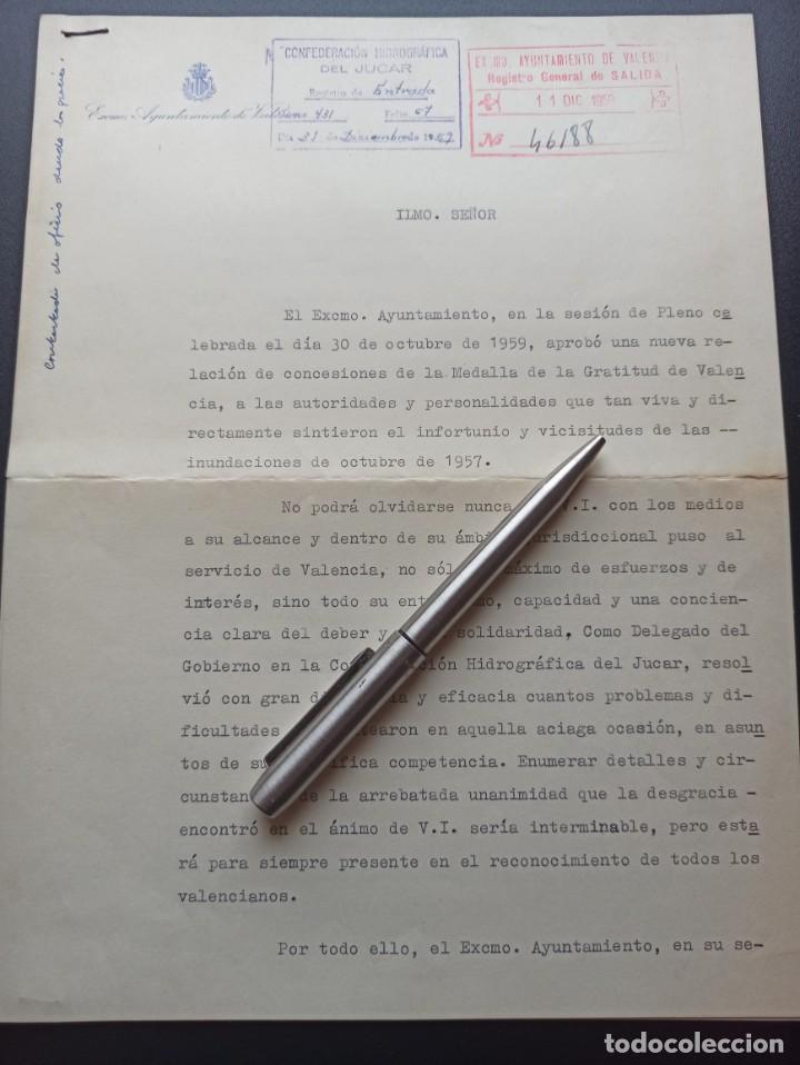 MEDALLA DE GRATITUD DE VALENCIA 1959. MEDALLA MILITAR INDIVIDUAL (Militar - Medallas Españolas Originales )