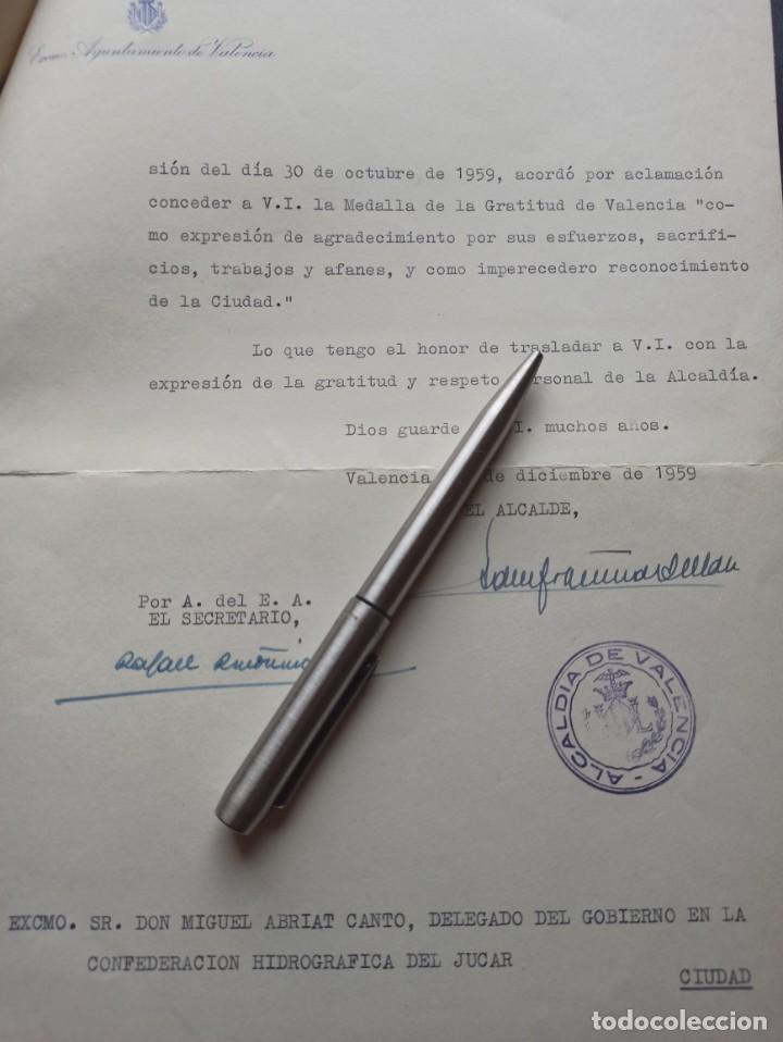 Militaria: Medalla de gratitud de Valencia 1959. Medalla Militar Individual - Foto 2 - 212882598