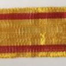 Militaria: RÉPLICA CINTA DE MEDALLA MINIATURA REY ALFONSO XII. GUERRAS CARLISTAS. 1875. ESPAÑA. Lote 213548150