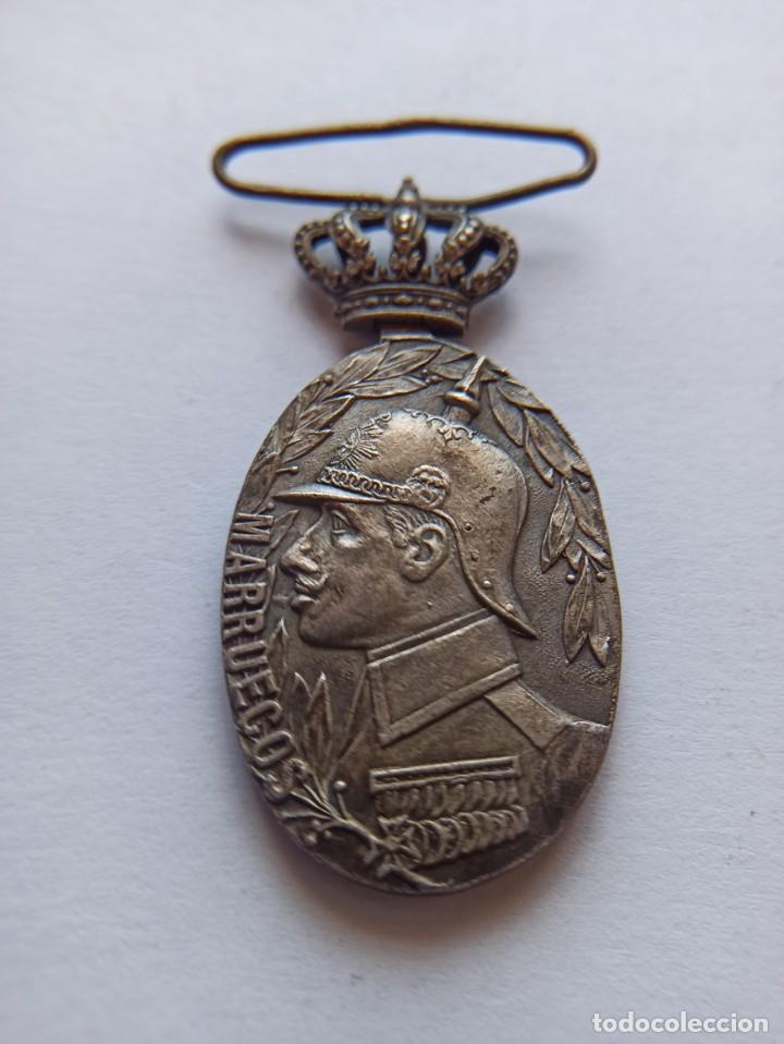 MEDALLA DE LA CAMPAÑA DE MARRUECOS PARA OFICIAL. (Militar - Medallas Españolas Originales )