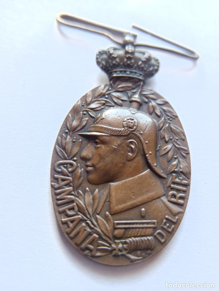 MEDALLA DE LA CAMPAÑA DEL RIF. 1909. MEDINA. (Militar - Medallas Españolas Originales )