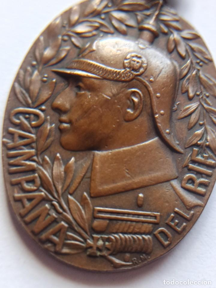 Militaria: Medalla de la Campaña del Rif. 1909. Medina. - Foto 2 - 213603178