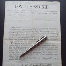 Militaria: CONCESIÓN MEDALLA MÉRITO MILITAR PENSIONADA. FILIPINAS. 1899. VEA OTROS ARTÍCULOS DEL MISMO MILITAR. Lote 213997941