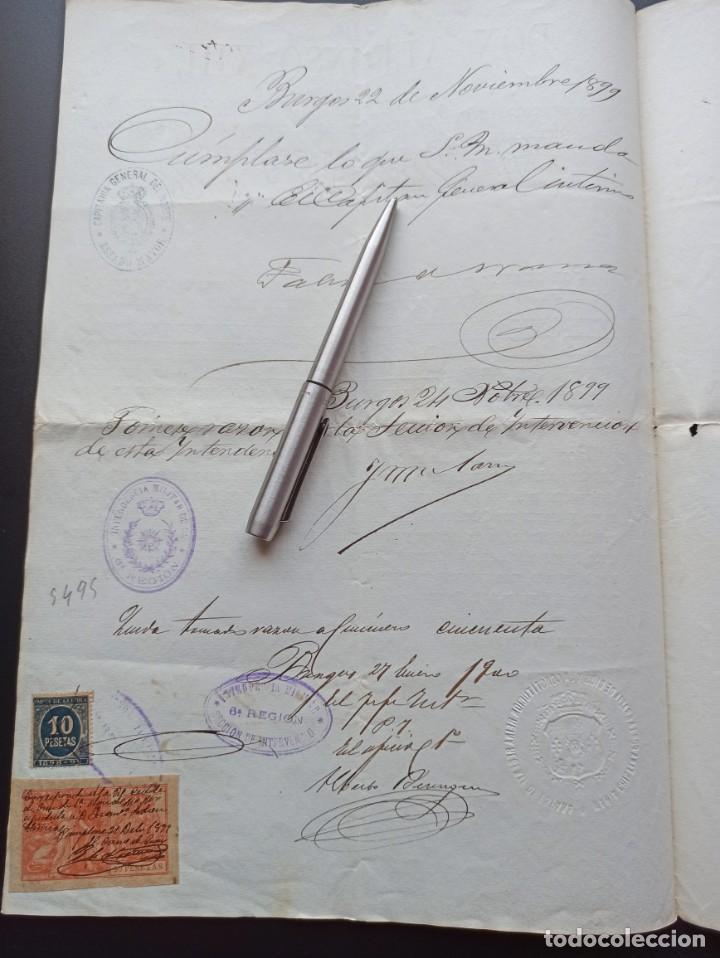 Militaria: Concesión Medalla Mérito Militar pensionada. Filipinas. 1899. Vea otros artículos del mismo militar - Foto 4 - 213997941