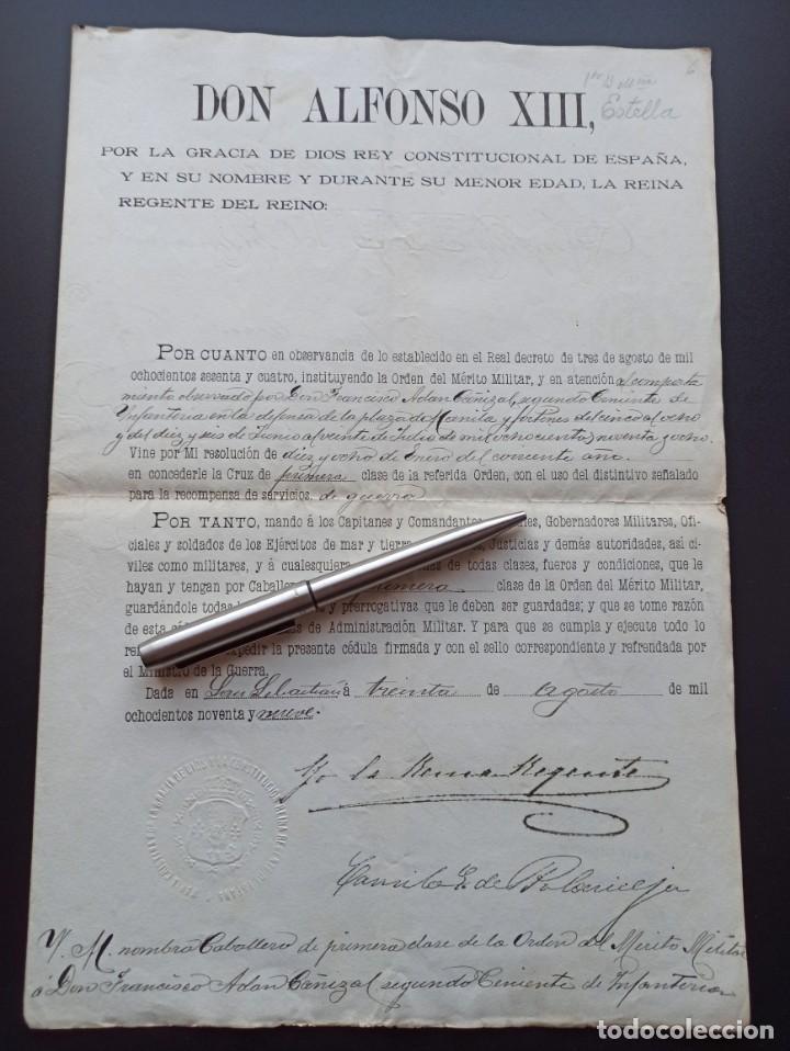 CONCESIÓN MEDALLA MÉRITO MILITAR. FILIPINAS. 1898. VEA OTROS ARTÍCULOS DEL MISMO MILITAR (Militar - Medallas Españolas Originales )