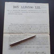 Militaria: CONCESIÓN MEDALLA MÉRITO MILITAR. FILIPINAS. 1898. VEA OTROS ARTÍCULOS DEL MISMO MILITAR. Lote 213998351