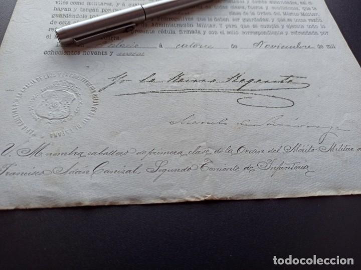 Militaria: Concesión Medalla Mérito Militar. Filipinas. 1898. Vea otros artículos del mismo militar - Foto 2 - 213998657