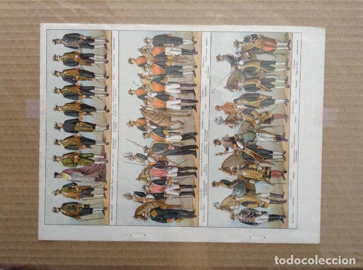 Militaria: Lote 5 laminas de uniformes internacionales China, Brasil, España, Colombia - Foto 2 - 214167387