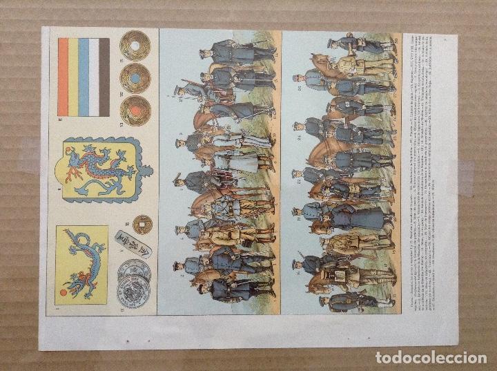 Militaria: Lote 5 laminas de uniformes internacionales China, Brasil, España, Colombia - Foto 3 - 214167387