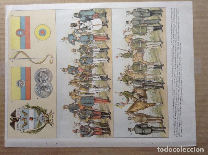 Militaria: Lote 5 laminas de uniformes internacionales China, Brasil, España, Colombia - Foto 5 - 214167387
