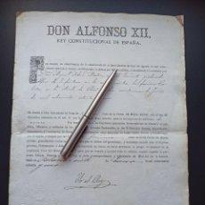 Militaria: CONCESIÓN ORDEN DEL MÉRITO MILITAR.1875.GUERRAS CARLISTAS. VER MÁS ARTÍCULOS DE ÉSTE MILITAR. Lote 214234363