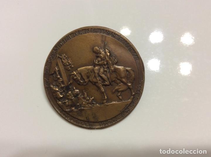 MEDALLA DE LA PRIMERA GUERRA MUNDIAL DE BRONCE 1915 3,5CM DE DIÁMETRO. (Militar - Medallas Internacionales Originales)