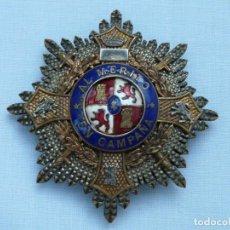 Militaria: PLACA CRUZ DE GUERRA - AL MERITO EN CAMPAÑA - GUERRA CIVIL - FABRICADA POR CASTELLS. Lote 215469808
