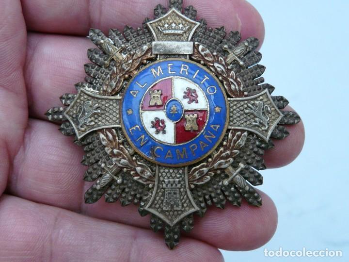 PLACA CRUZ DE GUERRA - AL MERITO EN CAMPAÑA - GUERRA CIVIL - FABRICADA POR CASTELLS (Militar - Medallas Españolas Originales )
