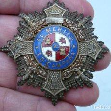 Militaria: PLACA CRUZ DE GUERRA - AL MERITO EN CAMPAÑA - GUERRA CIVIL - FABRICADA POR CASTELLS. Lote 215470531