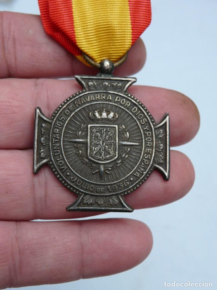MEDALLA VOLUNTARIOS DE NAVARRA JULIO 1936. (Militar - Medallas Españolas Originales )