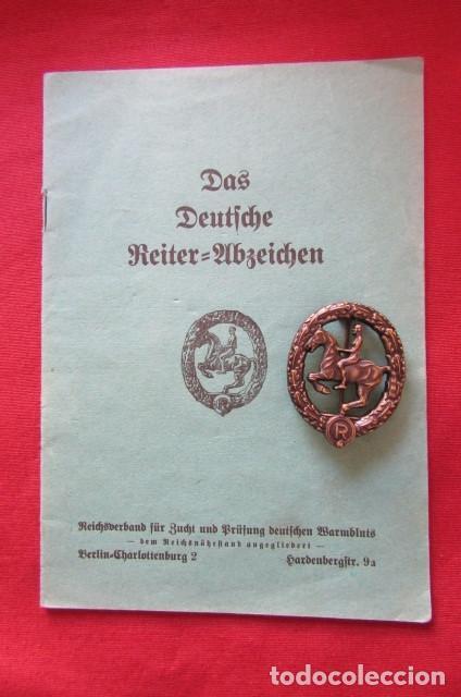 MEDALLA ALEMANA DISTINTIVO INSIGNIA CABALLERÍA II SEGUNDA GUERRA MUNDIAL EJERCITO ALEMÁN CON DIPLOMA (Militar - Medallas Internacionales Originales)