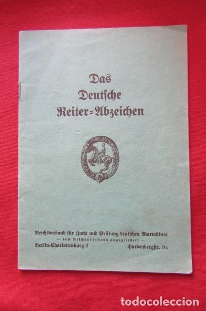 Militaria: Medalla alemana Distintivo insignia caballería II segunda guerra mundial ejercito alemán con diploma - Foto 2 - 215881277