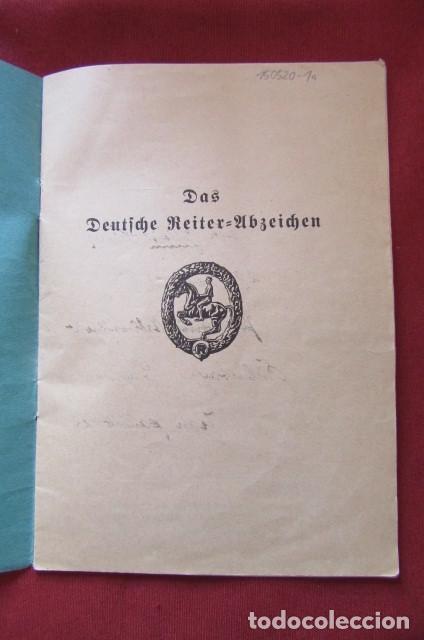 Militaria: Medalla alemana Distintivo insignia caballería II segunda guerra mundial ejercito alemán con diploma - Foto 12 - 215881277