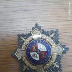 Militaria: PLACA MEDALLA GUERRA CIVIL FALANGE PLATA. Lote 215972348