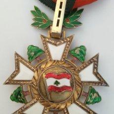 Militaria: MEDALLA ENCOMIENDA ORDEN DEL CEDRO LIBANES LIBANO. Lote 216588385