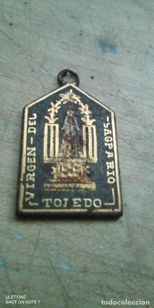 Militaria: medalla damasquinado de la virgen del alcazar y virgen del sagrario toledo - Foto 2 - 216852360