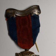 Militaria: MEDALLA PLATA MACIZA MASONICA DE INGLATERRA DEL AÑO 1920.EXTRAORDINARIO ESTADO.. Lote 217008112