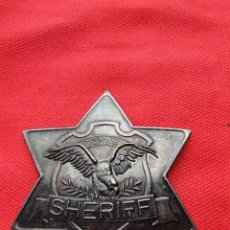 Militaria: PLACA DE SHERIFF.METAL. Lote 217125290