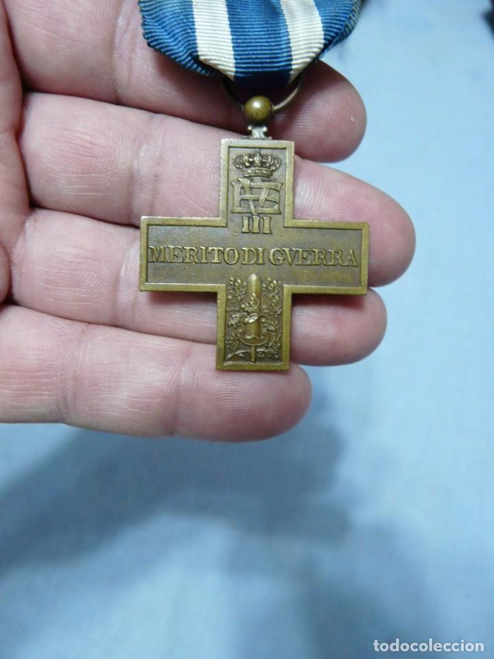 CRUZ DE GUERRA ITALIANA - FABRICADA EN ESPAÑA - GUERRA CIVIL (Militar - Medallas Internacionales Originales)