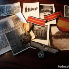 Militaria: MAGNIFICO CONJUNTO DE UN OFICIAL DE LA DIVISIÓN AZUL, TODO DE LA MISMA PERSONA. ORIGINAL 100%. Lote 218382250