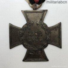 Militaria: ALEMANIA CRUZ DE HONOR DE LA PRIMERA GUERRA MUNDIAL. SIN ESPADAS PARA NO COMBATIENTES. HIERRO. MARCA. Lote 218484665