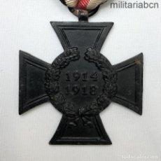 Militaria: ALEMANIA CRUZ DE HONOR DE LA PRIMERA GUERRA MUNDIAL. SIN ESPADAS PARA VIUDAS. HIERRO. MARCADA. Lote 218485653