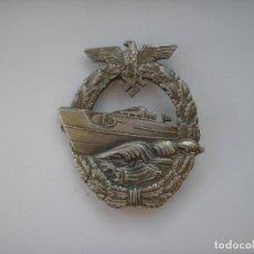 Militaria: WWII THE GERMAN BADGE KRIEGSMARINE E-BOAT. Lote 218645372