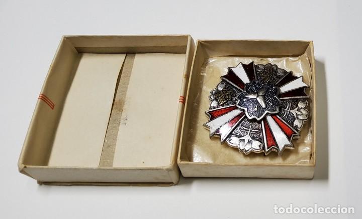 MEDALLA DE LOS 25 AÑOS DE PERTENENCIA AL CUERPO DE BOMBEROS DE JAPÓN (Militar - Medallas Extranjeras Originales)