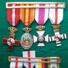 Militaria: MEDALLA CON PASADOR LOTE 8 IFNI SAHARA SAN HERMENEGILDO MÉRITO MILITAR MARRUECOS EJÉRCITO ESPAÑA. Lote 219197712