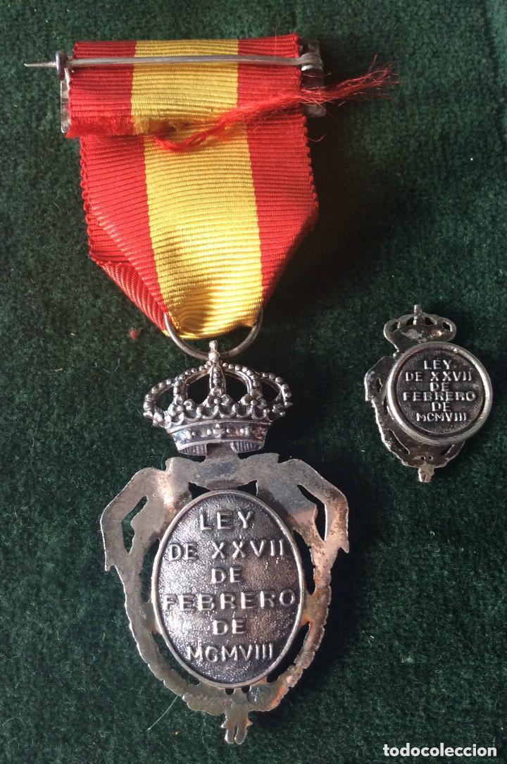 Militaria: Medalla del Instituto Nacional de Previsión. Plata. 1908. - Foto 5 - 219634985