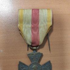 Militaria: ANTIGUA MEDALLA CRUZ DE FRANCIA, COMBATIENTES VOLUNTARIOS 1914-1918, 1° GUERRA MUNDIAL. Lote 219670857