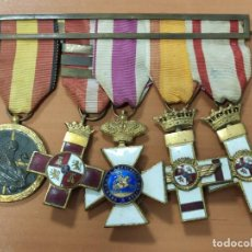 Militaria: ANTIGUO PASADOR CON 5 MEDALLAS GRAN CALIDAD, EN PERFECTAS CONDICIONES, EPOCA GUERRA CIVIL, AVIACION. Lote 219670970